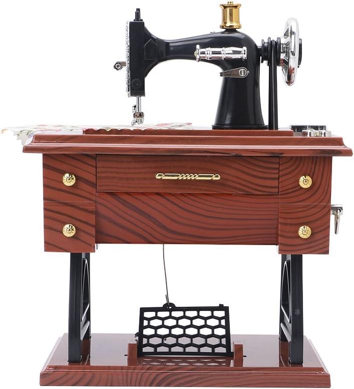 SimpleLife Máquina de Coser Music Box Vintage Mini Musical Plays ...