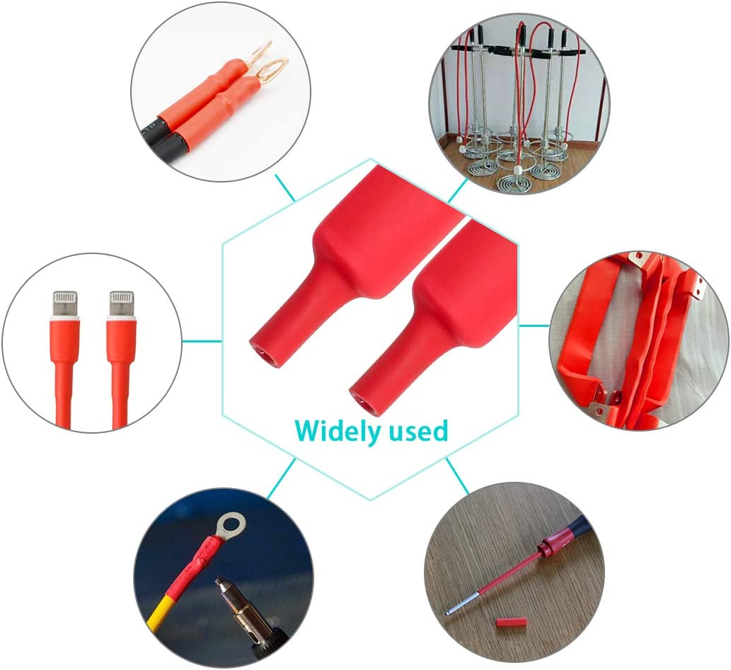 "Purple-fox 3:1 Heat Shrink Tubing Adhesive-Lined Heat Shrinkable Tube Waterproof Insulation Sealing DIY 30mm Dia 1-1//4/"""