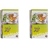 Gaia Green Tea Lemon 25 tea bags ( Pack of 2 )