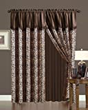 Leopard Micro Suede Curtain Set For Sale