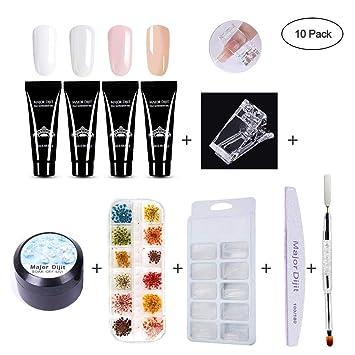 Amazon.com : Nail Extension Gel, LEEGOAL Nail Art Kit Professional ...
