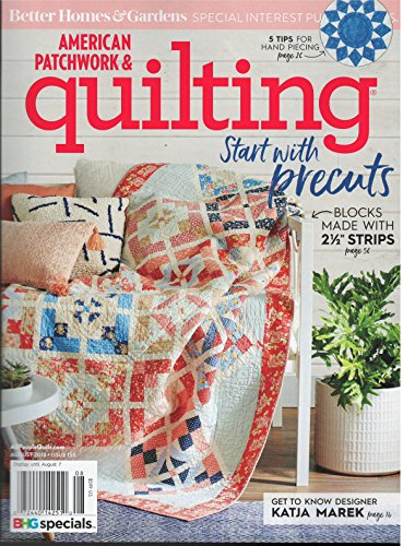 Better Homes & Gardens American Patchwork & Quilting Magazine August 2018