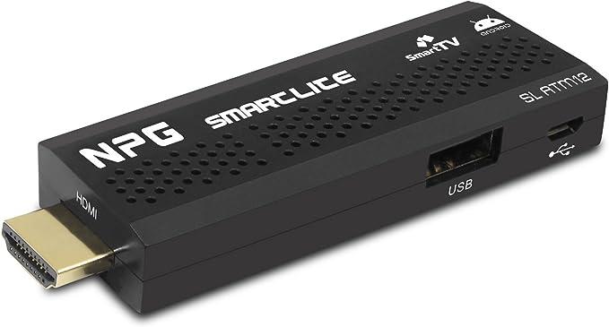 NPG Tech Smartlite - Smart TV Android (4 GB, 1 GB RAM, USB 2.0, lector de tarjetas), negro: Amazon.es: Electrónica