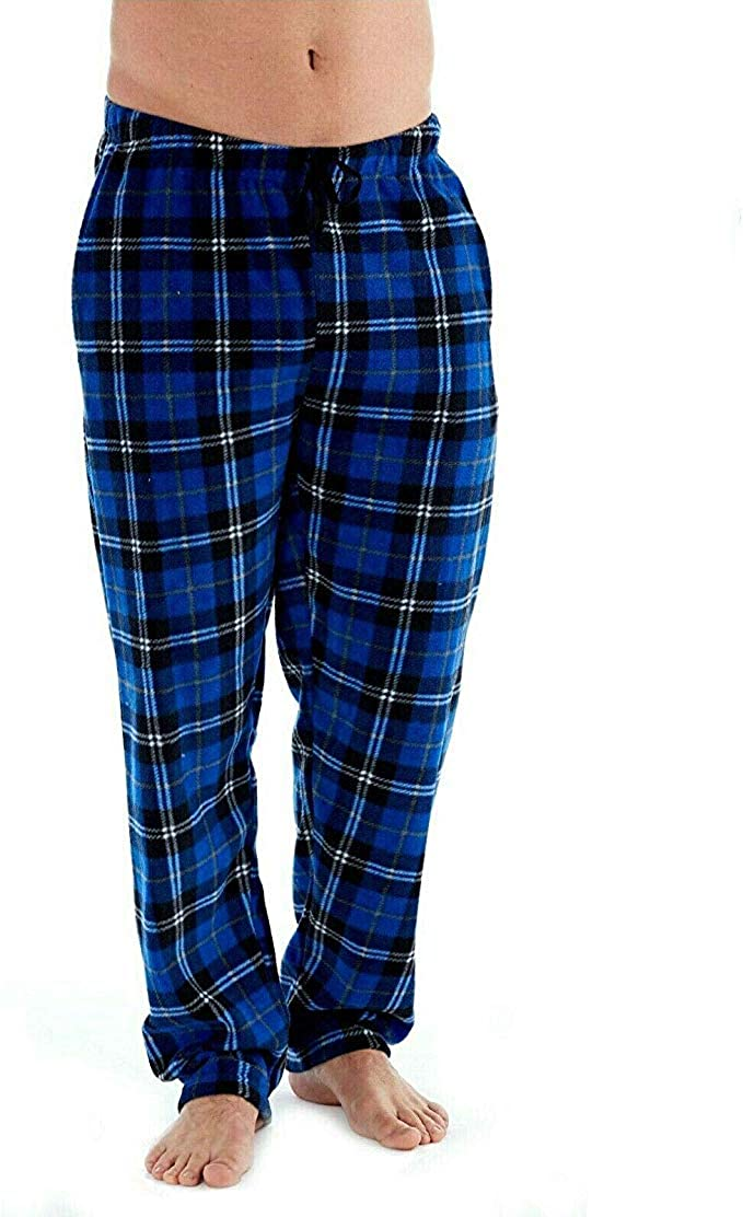 Fashion by Purdashian Mens Pyjama Bottoms Lounge Pants in Either Snug Warm Fleece Or Lightweight Cotton