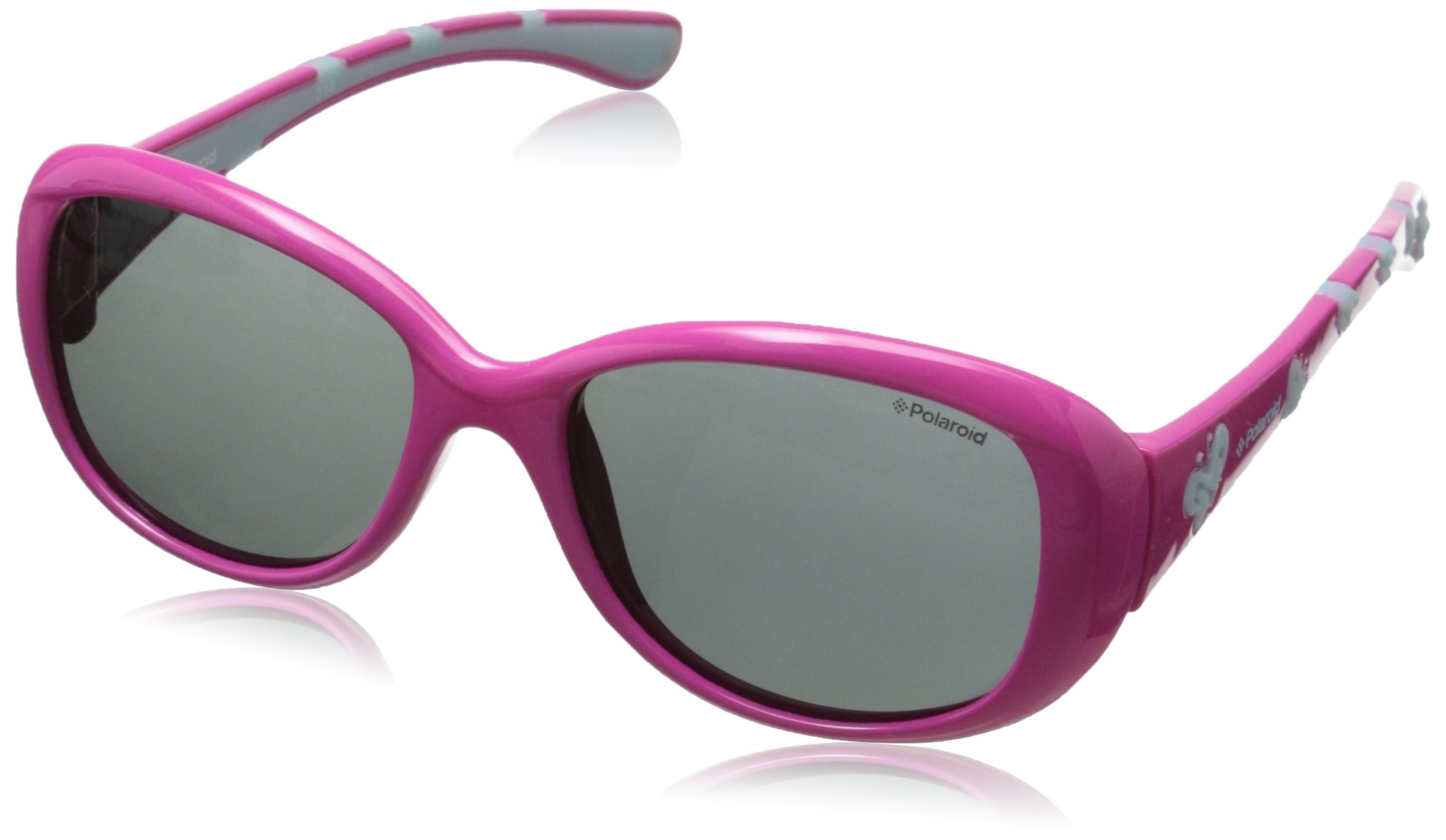 Polaroid Sunglasses P0411S Polarized Oval Sunglasses, Pink, 45 mm by Polaroid Sunglasses