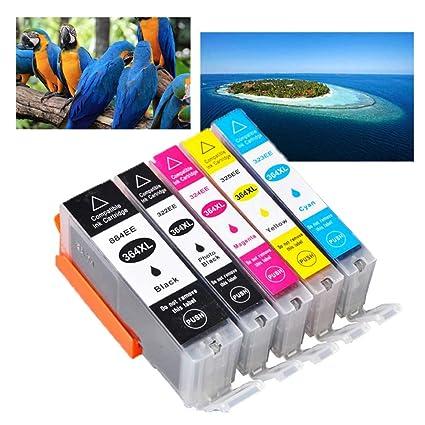 Ouguan® 5x Compatible HP 364XL 364 Cartuchos de Tinta para HP ...