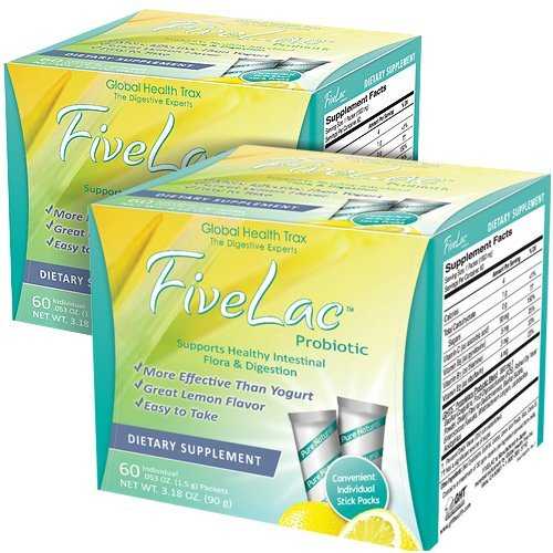 FiveLac Probiotic - 2 Pack by Global Health Trax by Global Health Trax