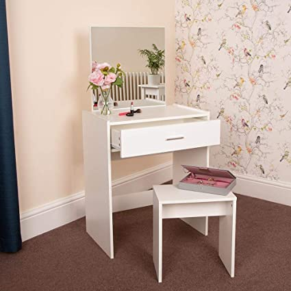 Rainbow Tree Small Dressing Table With Mirror And Stool Makeup