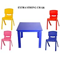 Premium Childrens Kids Plastic Study Table and Chair Set for Nursery, Garden Outdoor Childrens Furniture