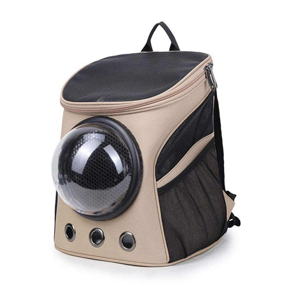 Brass Pet Cat Dog Innovative Traveler Bubble Backpack Carriers Switchable Mesh Panel,Brass
