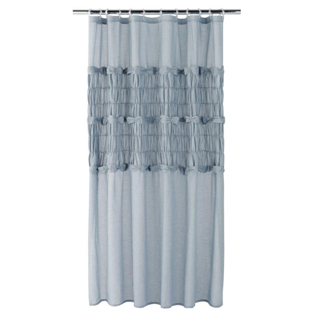 Amazon.com: LC Lauren Conrad Sophia Shower Curtain (Blue, 72 x 72 ...