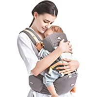 Kidsidol Porte-Bébé 4 en 1 Hipseat Ergonomique Porte-Bébé Sac à Dos Kangourou Porte Bébé Détachable 4 Options de Portage safes et comfortables adaptées aux bébés de 0-3 ans