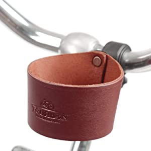 Tourbon Leather Bike Beverage Holder Small Bicycle Water Bottle Cup Holder