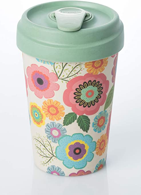 New Arrival Decal Printed Pretty 300ml Bamboo Fiber Cup With