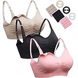 dd1d282c0f9e8 KEALLI Maternity Nursing Bra for Breastfeeding Womens Bra Full Bust Sleep  Bralette(3 Pack)