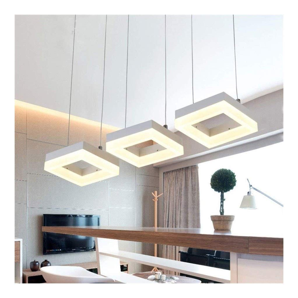 Office Ceiling Lights Northern Simple Three Heads Chandelier Personality Restaurant Bedroom Living Room Restaurant Art Pendant Light Fixtur Hanging Wire Length 120cm Energy Level A+++ by Xk-Ceiling Lights