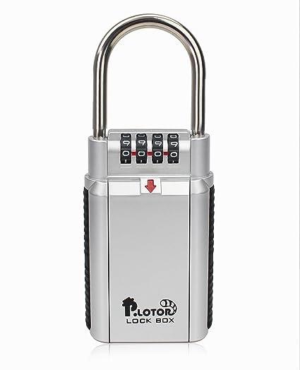 Key Safe Box, P LOTOR Big Capacity Key Storage Key Lock Box Safe  Combination Padlock-Door Handle for Realtor Outdoor Use, Perfect for Car  Safe