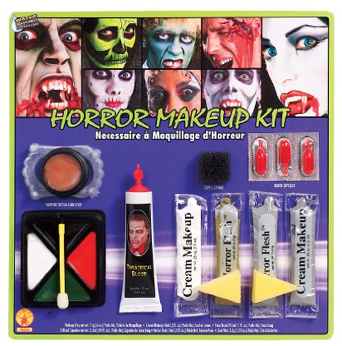Costumes Fake Teeth (Rubie's Costume Horror Makeup Kit, White/Multi, One Size)
