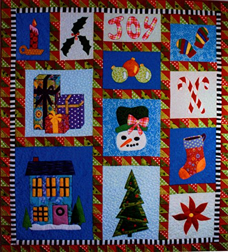 BJ Designs and Patterns Home for the Holidays Applique Quilt Pattern Wall Hanging or Lap 48