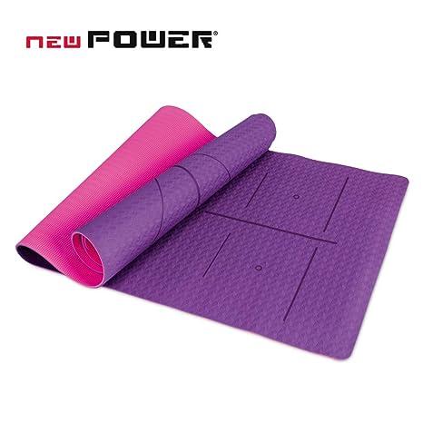 NEWPOWER - Esterilla Yoga Antideslizante Ecológica ...