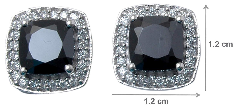 Banithani 925 Steling Silver Garnet Stone Stud Earrings Fashion Jewelry