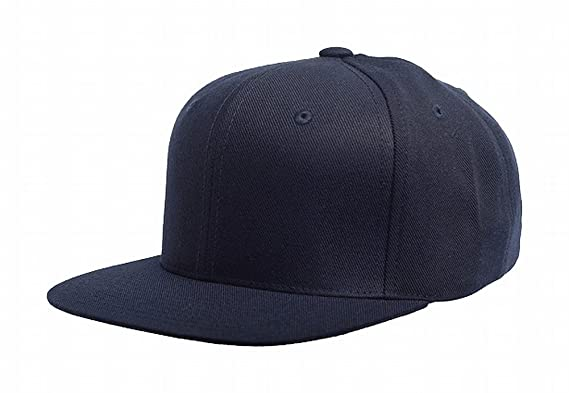 814812ac2d4d58 Flexfit Original Yupoong Pro - Style Wool Blend Snapback Snap Back Blank  Hat Baseball Cap 6098m, Dark Navy: Amazon.co.uk: Clothing