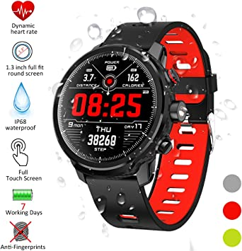 Qimaoo Reloj Inteligente, Smartwatch Hombre Mujer IP68 Impermeable ...