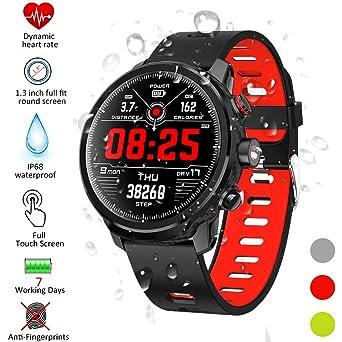 Qimaoo Montre Connectée Smartwatch Femmes Homme montre sport cardio IP68 Smart Watch L5 Tracker dActivité avec Moniteur de Sommeil, Réveil, ...
