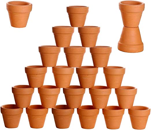 Crafts Wedding Favor 2 inch Small Mini Clay Pots with Drainage Holes Flower Nursery Terra Cotta Pots for Indoor//Outdoor Succulent Plants vensovo 48 Pcs Tiny Terracotta Pots