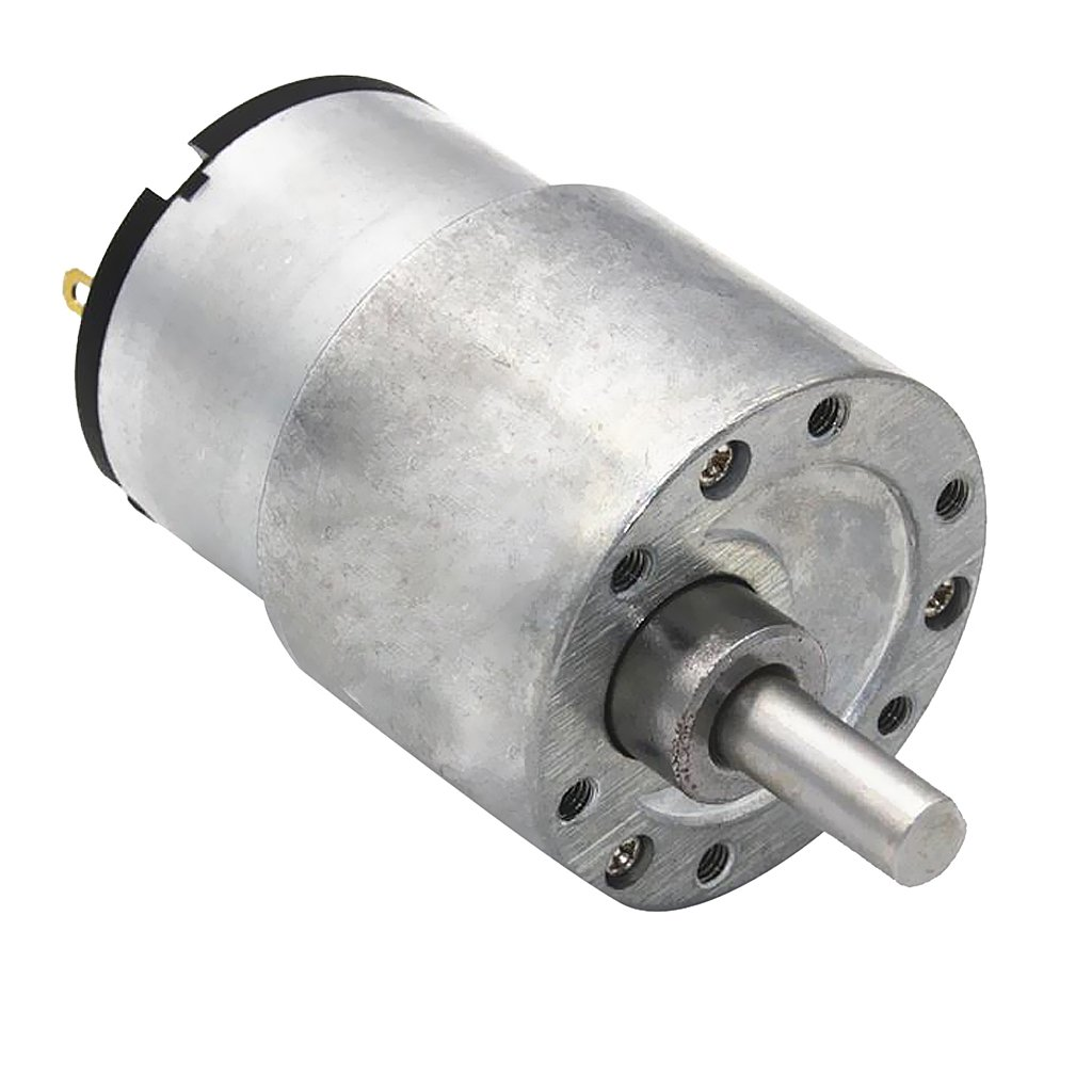 Sharplace 12V 7RPM-960RPM Gearbox DC Gear Motor Micro Speed Reduction High Torque - Silver, 22RPM