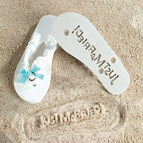 Just Married Flip Flops Message