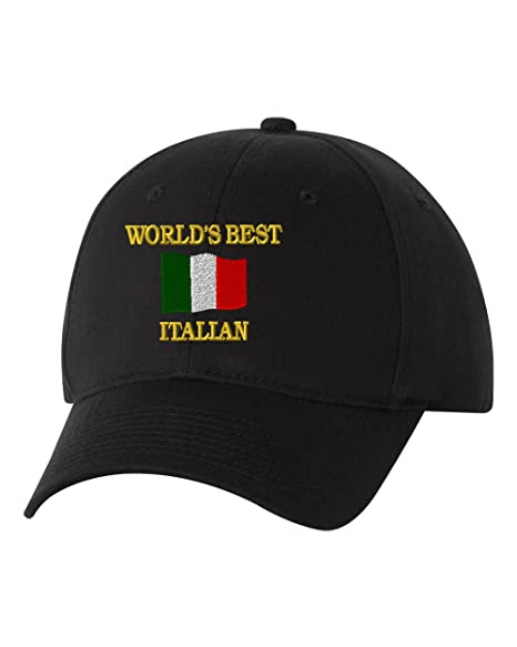a11135db Image Unavailable. Image not available for. Color: WORLD'S BEST ITALIAN Custom  Personalized Embroidery Embroidered Baseball Hat Cap