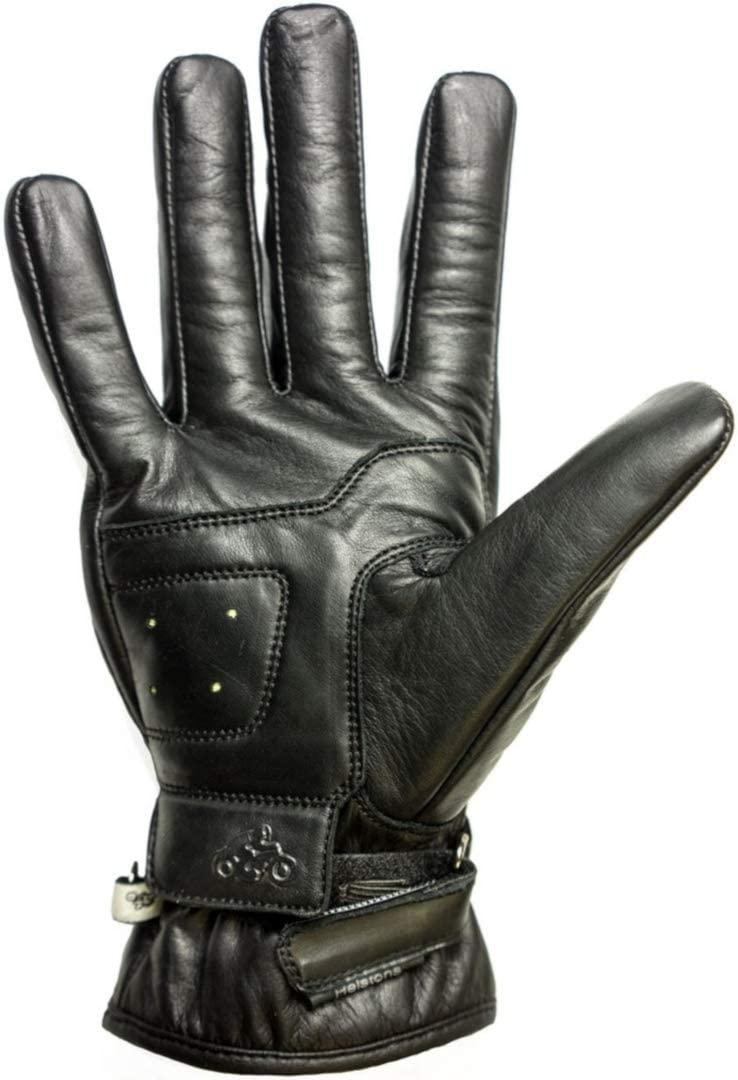 T11 Noir Helstons Gants moto Basik Ete Cuir Noir