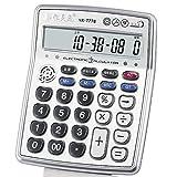 Musical Function Calculator Portable 12-Digits LCD Display Calculator with Alarm Clock and Voice Reading and Mini Instrument Desktop Senbonzakura Calculator - AR-7778