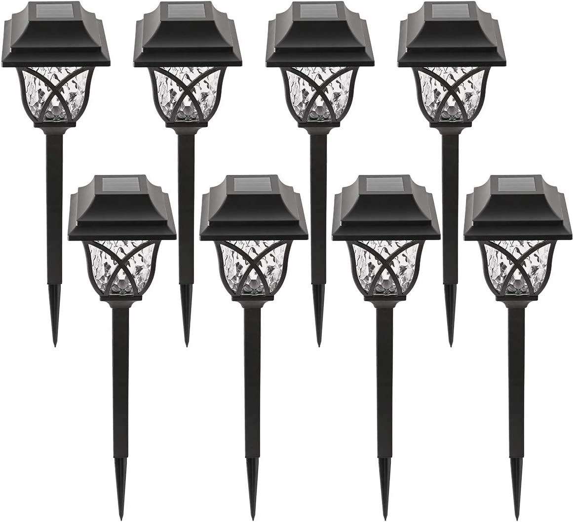 UNooMe Solar Path Light Outdoor -Garden Light with Super Bright,Waterproof led Lanscape pathlight Solar Powered Yard Light Suitable for Lawn,Patio,Yard,Garden,Walkway(8 Packs)