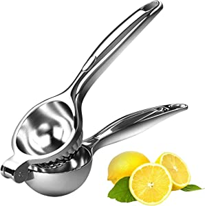 Lemon Squeezer Manual Lemon Squeezers - Large Manual Citrus Press Juicer and Lime Squeezer Stainless Steel for oranges,lemons, Citrus, Grape Watermelon, Etc (2.75 inch)
