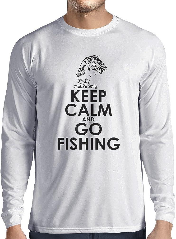 lepni.me Camiseta de Manga Larga para Hombre Ropa de Pesca Regalo Gracioso Pescador Citas de Humor: Amazon.es: Ropa y accesorios