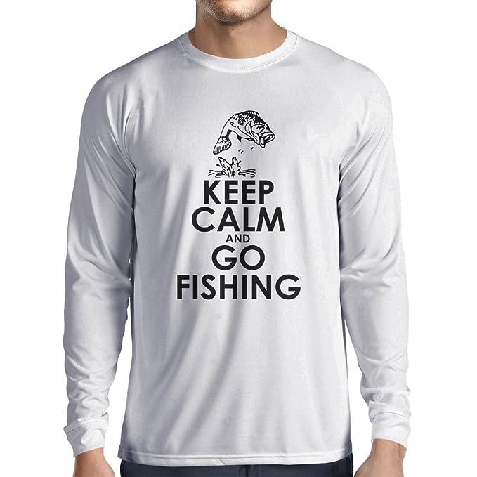 lepni.me Camiseta de Manga Larga para Hombre Ropa de Pesca 49e967ebba694