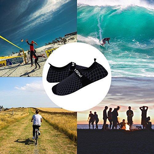 Unisex Barfuß Sport Wasser Haut Schuhe Quick Dry Aqua Socken Beach Surf Surf Yoga Schuhe für Frauen Männer und Kinder Web-Erwachsener