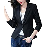 zhaoabao-AU Womens Slim Fit Casual Office 1-Button Wear to Work Suit Blazer Jackets