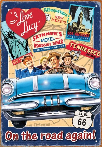 MMNGT Aquarius I Love Lucy Road Trip Tin Sign TIN Sign 7.8X11.8 INCH