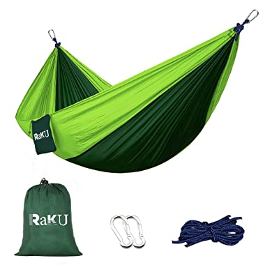Greenmall Camping Hammock, Double Portable Soft Breathable Parachute Nylon Lightweight Hammock for Hiking Travel Backpacking Beach Garden, 660lbs Capacity