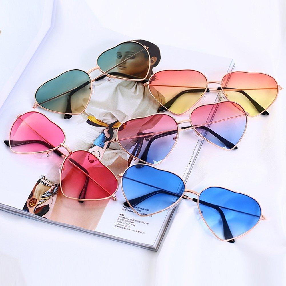 Hustar - Gafas de Sol para Mujer con Forma de corazón y ...