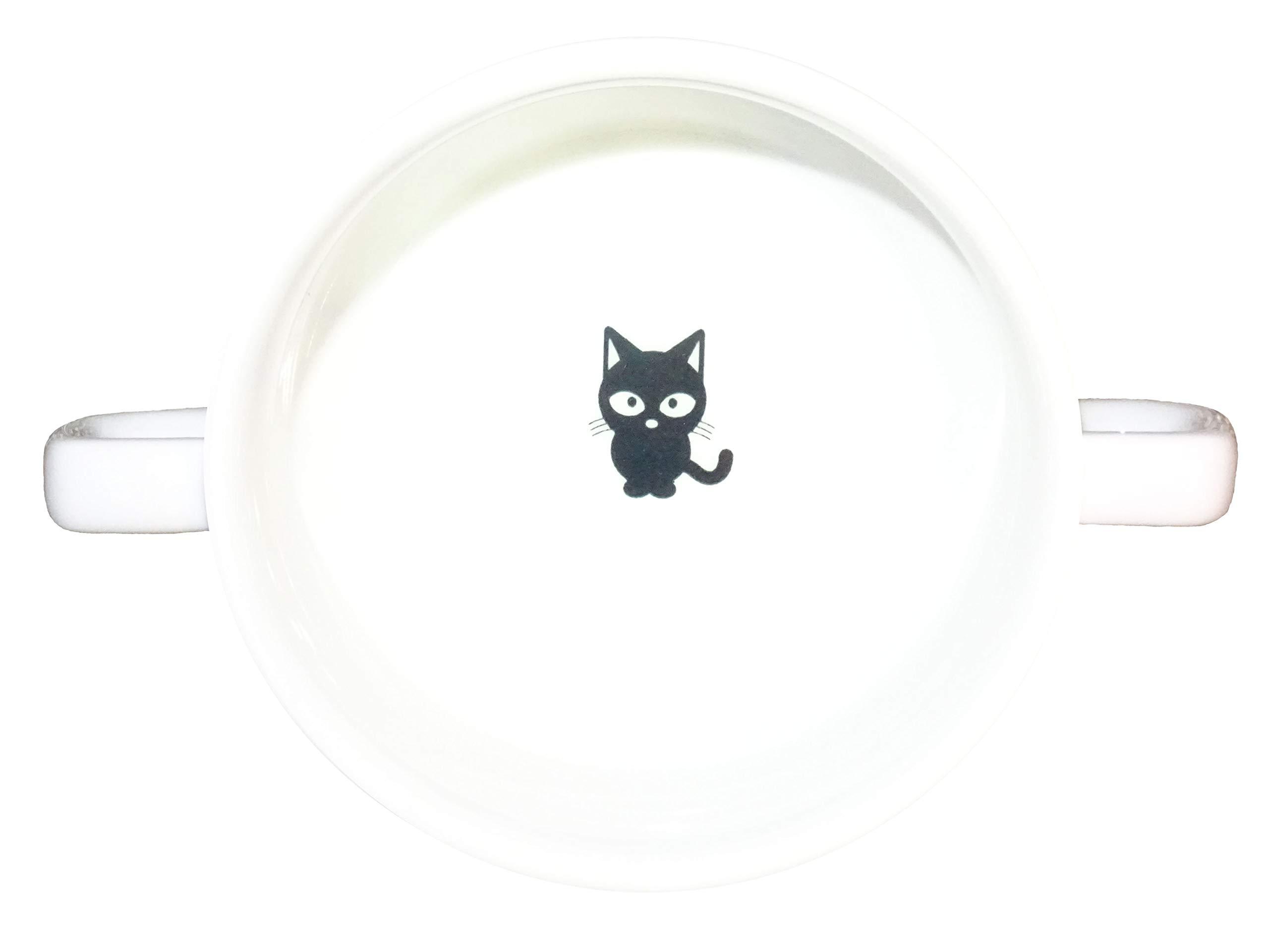 Soup Bowl 18, 1 pcs, cat Soup Bowl Small Baby Child Kids, Bottom, Hidden Message, Secret Message, Animal, Cartoon, Cute Animals, Kids, Porcelain