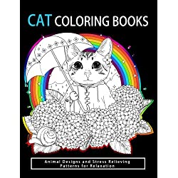 Cat Coloring Books: Cats & Kittens for Comfort & Creativity for adults, kids and girls (Volume 3)