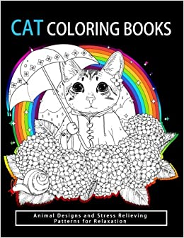 Amazon Cat Coloring Books Cats Kittens For Comfort Creativity Adults Kids And Girls Volume 3 9781541228085 Tamika V Alvarez