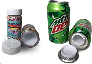 Fake Sprinkles and Mountain Mtn Dew Soda Safe Diversion Secret Stash Mnt Dew Safes with Hidden Storage to Hide Money Jewelry anything