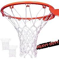 SUPEROK Basketball Net Durable Sturdy Professional Multi Basketball Net,2 Pack Ultra Heavy Duty Basketball Net Replacement Red White Blue 2 Pack Fits Standard Indoor or Outdoor Basketball Hoop