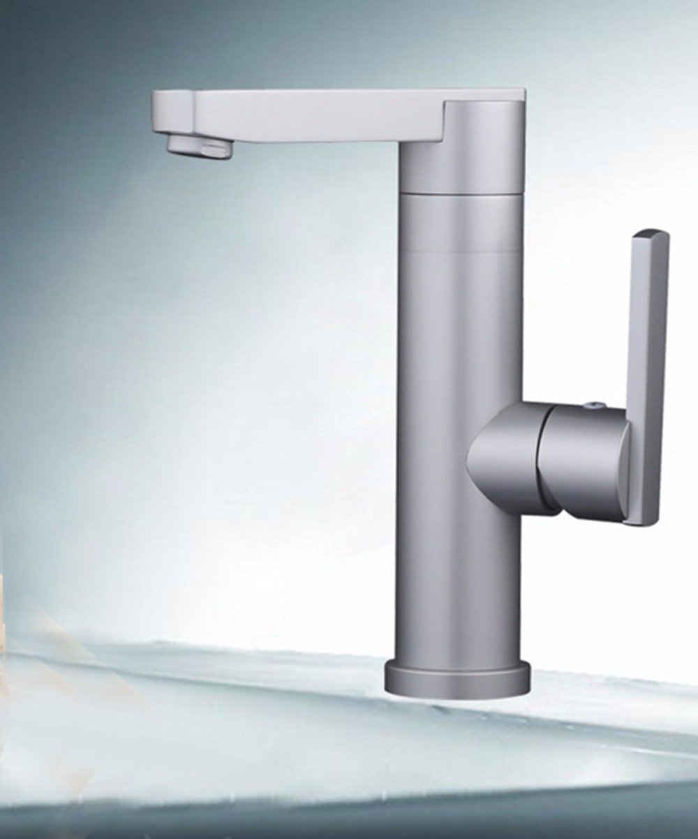 SJQKA-Cold and hot water tap, aluminum, plate faucet, washbasin can turn the faucet