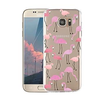 Funda Samsung Galaxy S7 Transparente,Dibujos Animados, Anti-Rasguño, Resistente Huellas Dactilares Blossom01 Ultra Fina de Gel de Silicona TPU Carcasa ...